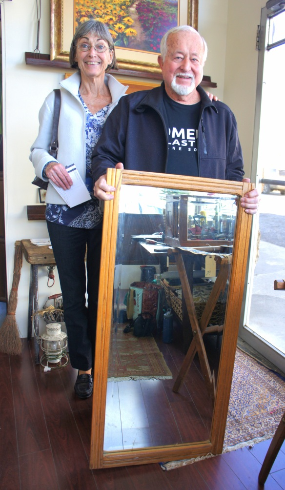 Adie and Bill danced their way out with this vintage old beveled mirror.