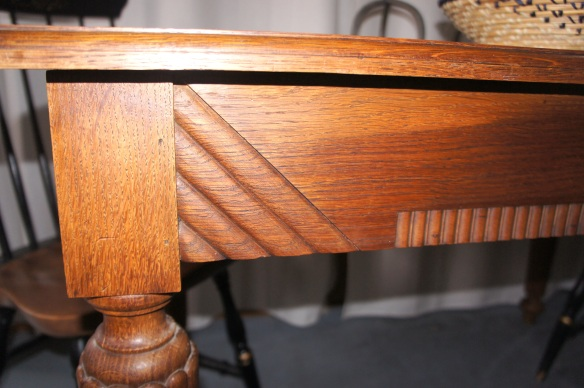 Close up of Antique Walnut Table