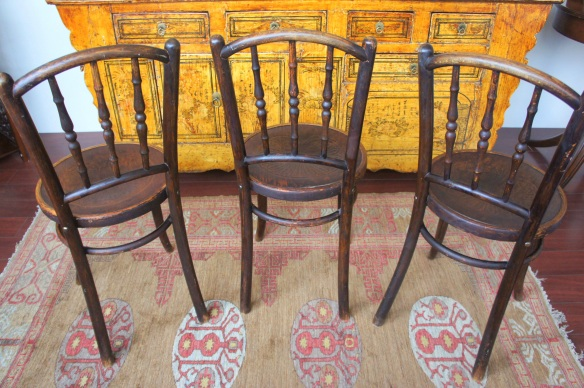 Backside of Bistro Chairs, Set of 3