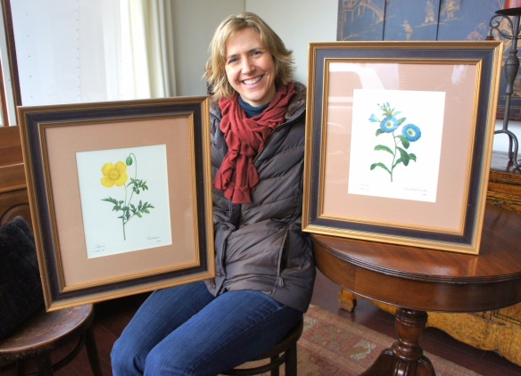 Christina fell for these beautifully framed botanical prints which complement the large wood framed mirror she found at The Station last summer!