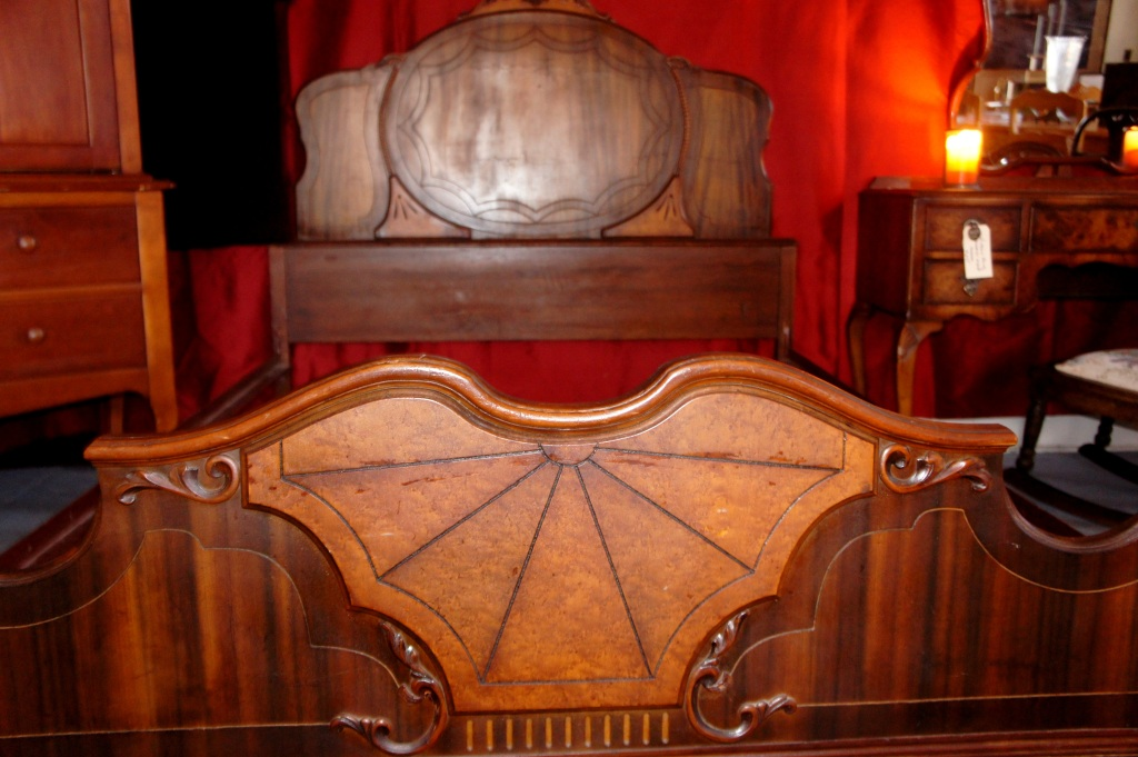 Art deco Full Size Antique Bed, spectacular.