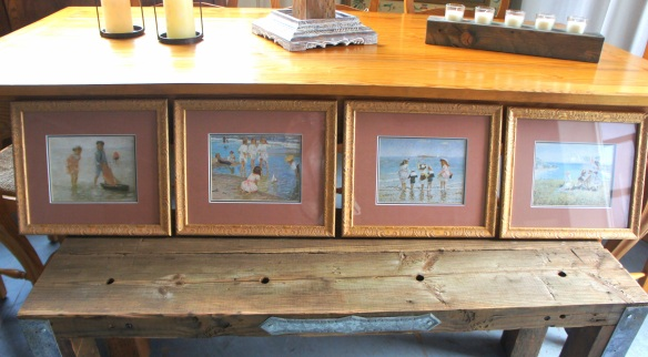 Set of Four Framed Beach Art