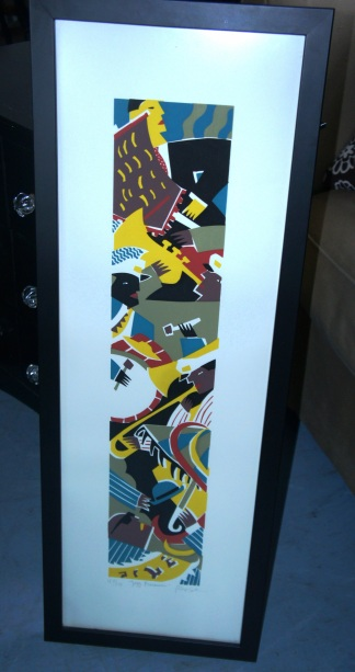 Framed and signed Jazz Print