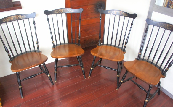L Hitchcock Classic New London Side Chair; Set of Four; Stamped Originals
