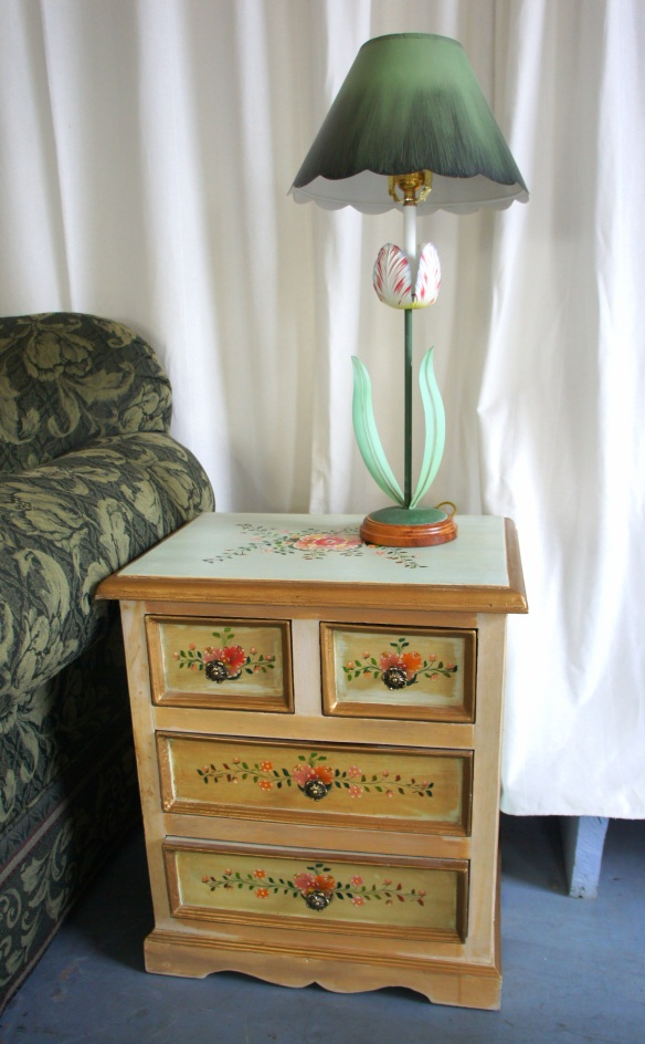 Small Painted Chest with Four Drawers Measures: 20.5 wide x 14.5 deep x 23.5 high