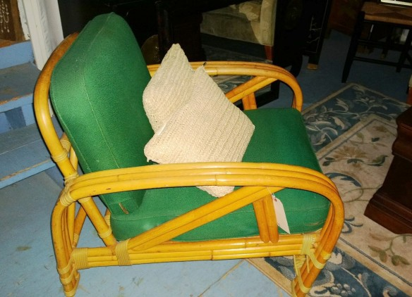 rad rattan green cushions
