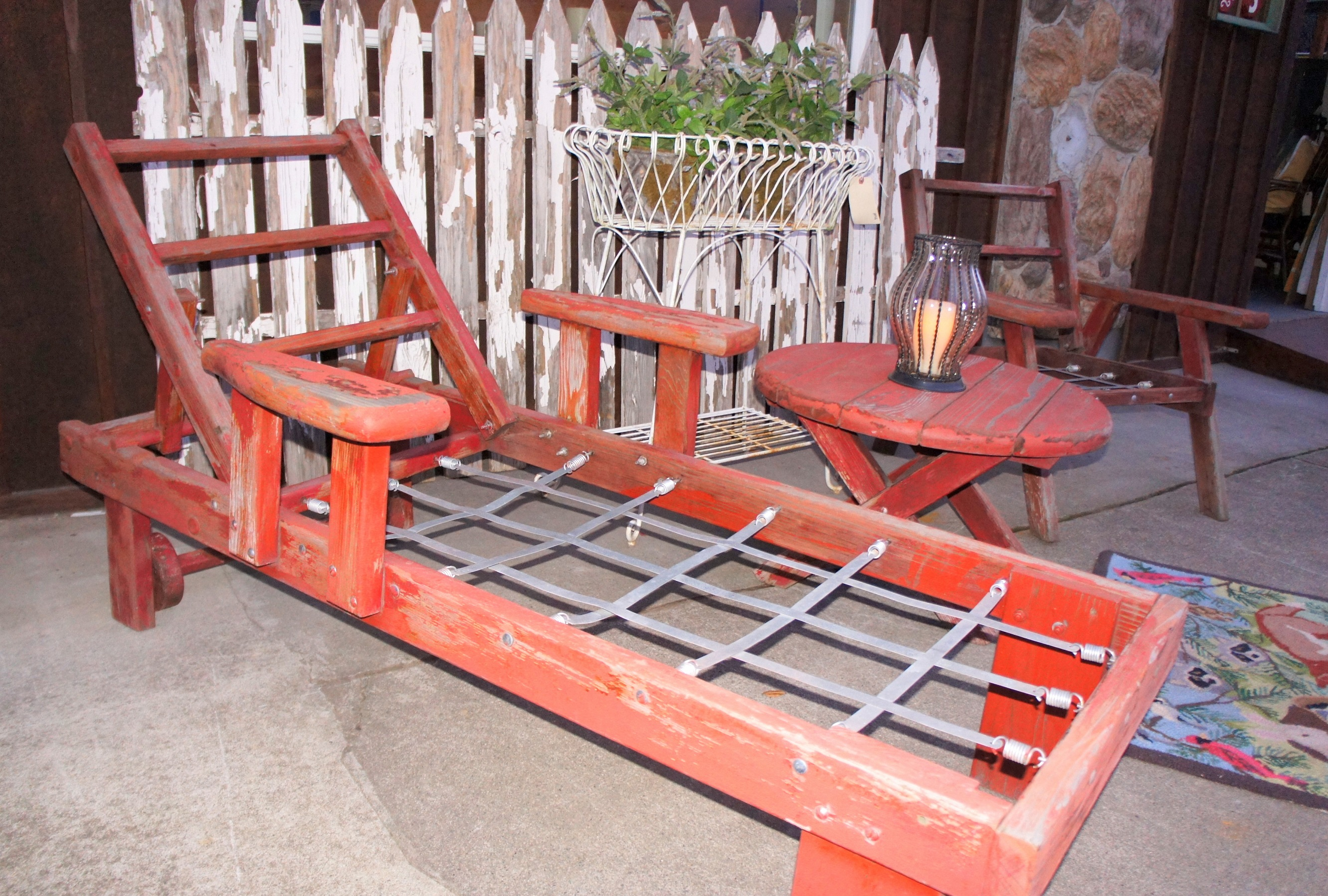 Patio Table And Bench Set