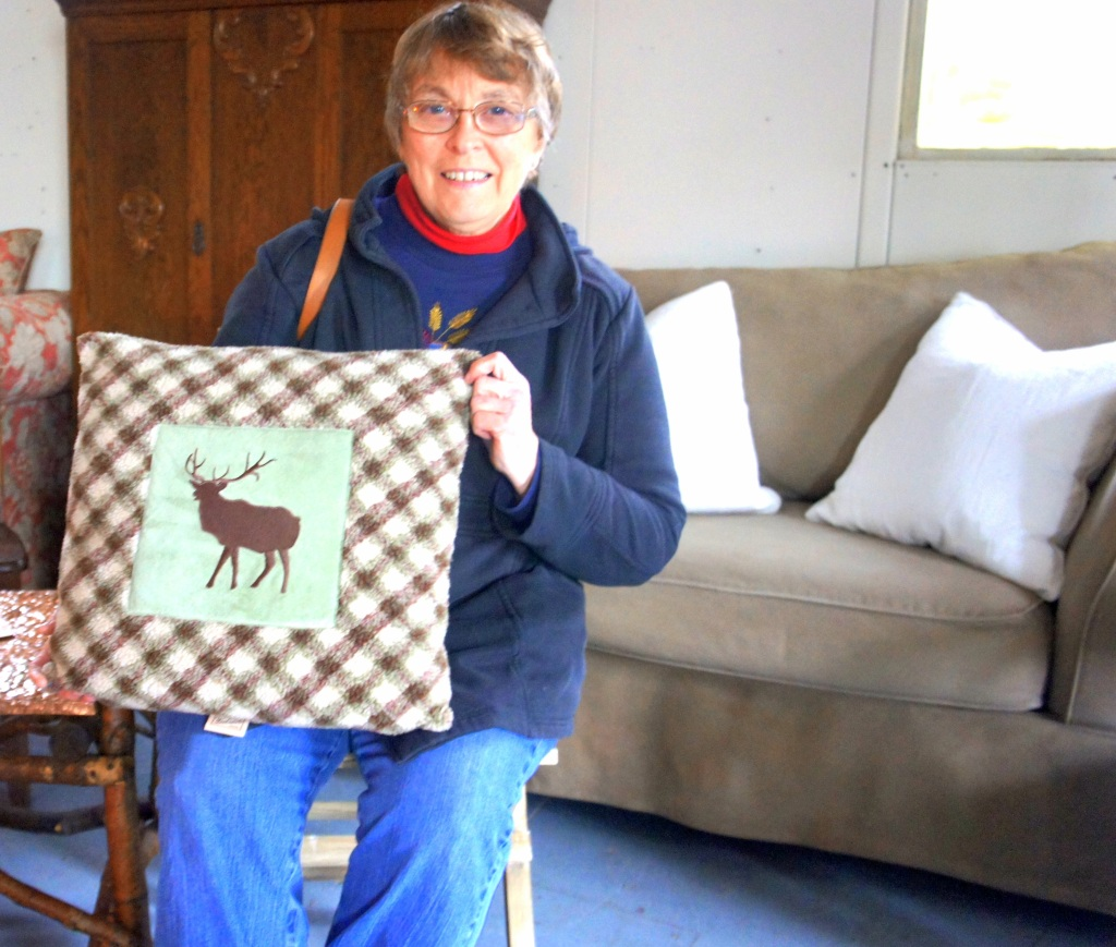 Ruth shared she loves those rare occasions she spots elk in the gorge and was tickled to discover this elk pillow for her place!