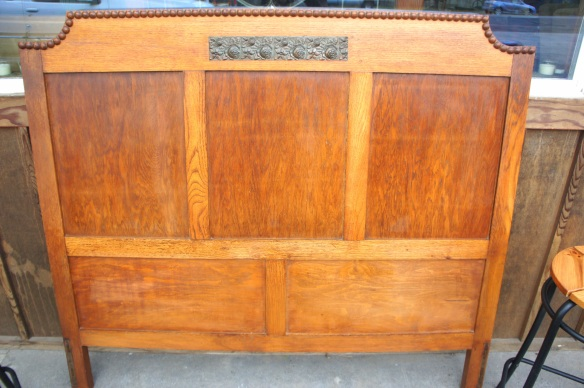 "Antique headboard. A truly special piece. Measures 53"" wide x 46.5 high"