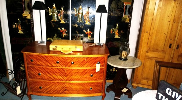 zebra dresser, chinese screen